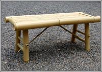 【送料込み!改定価格】床机 竹製(3人掛)