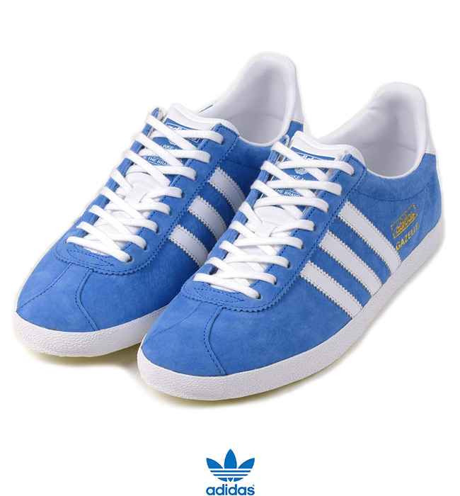 adidas Originals Gazelle OG Trainers Airforce BlueWhite