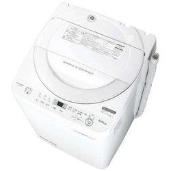 SHARP シャープ【ES-GE6B-W】ESGE6B-W  6.0kg 全自動洗濯機 ホワイト系 穴なし槽【KK9N0D18P】