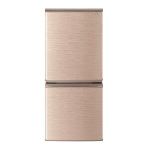 SHARP シャープ【SJ-D14E-N】SJD14E-N  137L 2ドア冷蔵庫(ブロンズ系) つけかえどっちもドア 【KK9N0D18P】