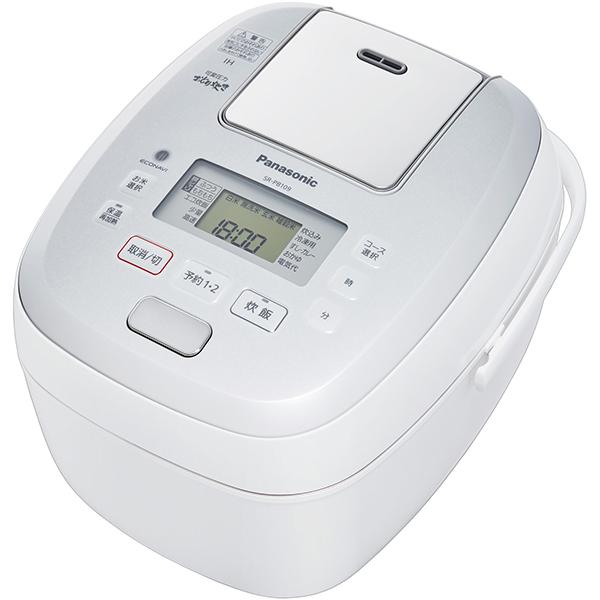 Panasonic パナソニック【SR-PB109-W】SRPB109-W 可変圧力IHジャー炊飯器 5.5合炊き ホワイト【KK9N0D18P】