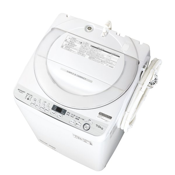 SHARP シャープ【ES-GE7D-W】ESGE7D-W 全自動洗濯機 ホワイト系 穴なし槽 【KK9N0D18P】