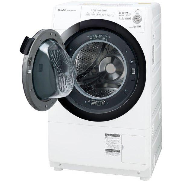 SHARP シャープ【ES-S7E-WL】ESS7E-WL ドラム式 洗濯乾燥機 プラズマクラスター 洗濯7kg/乾燥3.5kg 左開き ホワイト系【KK9N0D18P】