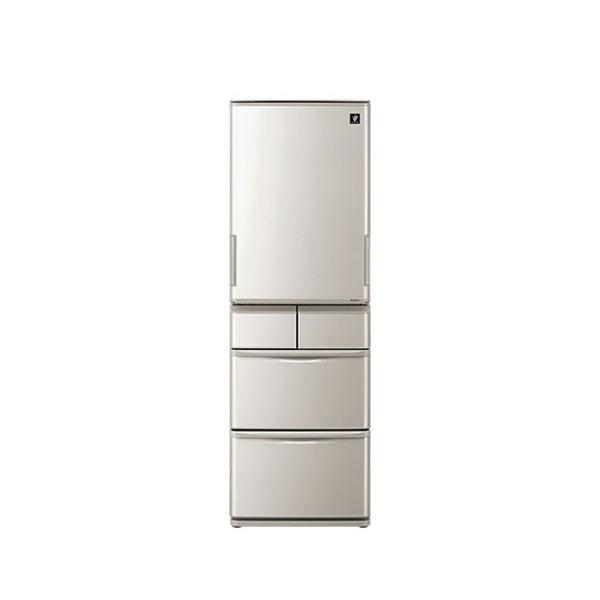 シャープ 冷蔵庫 5ドア 412L どっちもドア シルバー SJ-W412D-S