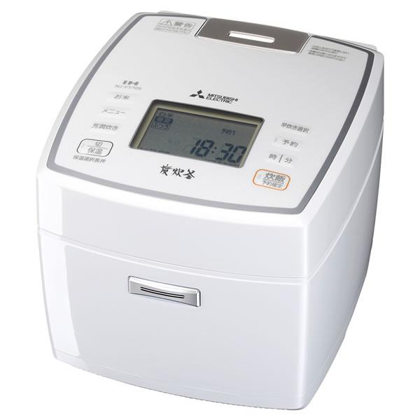 三菱電機 IHジャー炊飯器 5.5合炊き 備長炭 炭炊釜 ダブル炭コート NJ-VV109-W ピュアホワイト