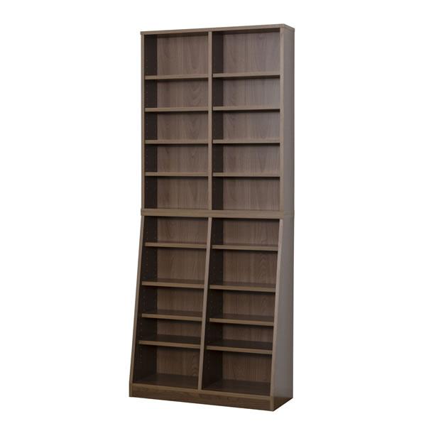 クロシオ SOHO書棚 W75 組立式 31142 ウォルナット