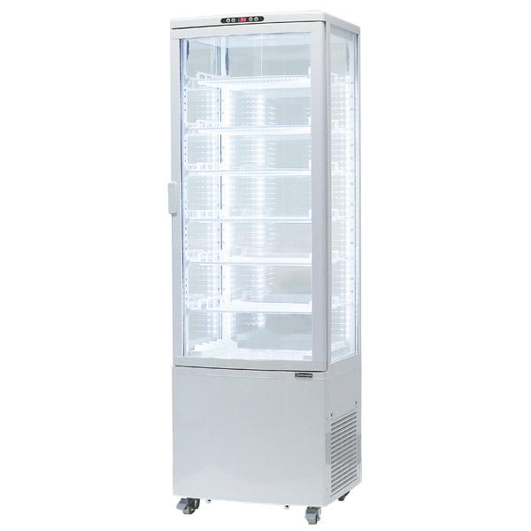レマコム 大型4面ガラス 冷蔵ショーケース LED仕様 215L 前開き 7段(中棚6段) RCS-4G215SLH