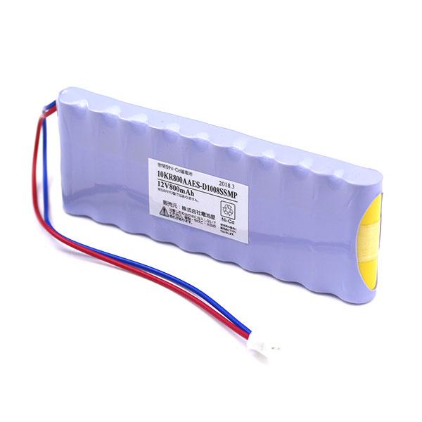 10KR-800AAE相当品 SANYO製相当品 ※組電池製作バッテリー マーチングキーボード YAMAHA YMK-70 等用 12V800mAh