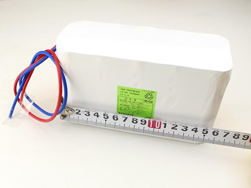 10KR-7000F 相当品 SANYO Cadnica製相当品 ※組電池製作バッテリー 12V7000mAh エレベーター設備や撮影機材 等用 リード線のみ【受注品2~3週間】