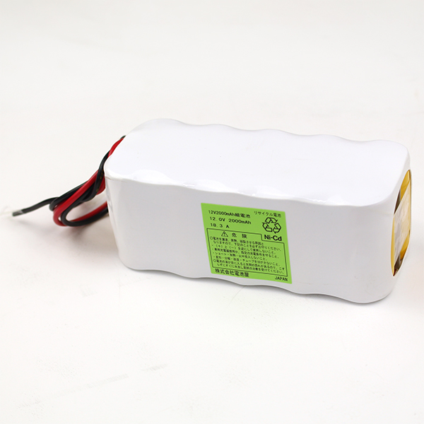 12V2000mAh組電池 W型 リード線切りっぱなし ※電池屋組電池