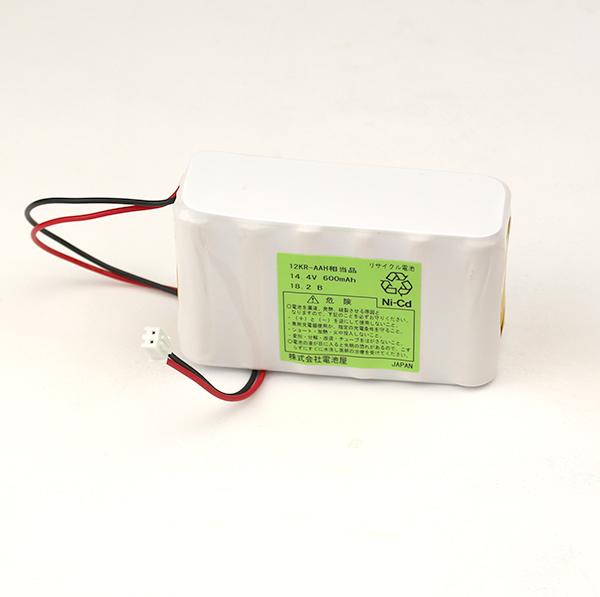 12KR-AAH 相当品 SANYO Cadnica製相当品 コネクタ付 ※組電池製作バッテリー 14.4V600mAh NECコルソス csdx 内蔵ニカド電池 等用