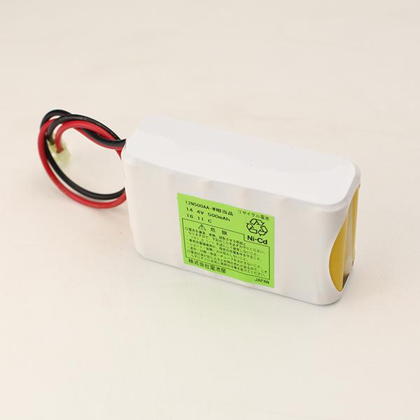 12N500AA-W相当品(同等品) W型 コビシコネクタ付 | 誘導灯 | 非常灯 | バッテリー | 交換電池 | 防災