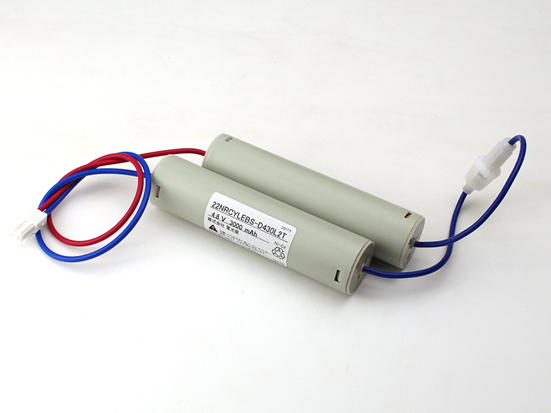 2-2NR-CY-LEB相当品(同等品) 4.8V3000mAh ニッケル・カドミウム S型 | 誘導灯 | 非常灯 | バッテリー | 交換電池 | 防災<年度シール付き>【4月おすすめ】