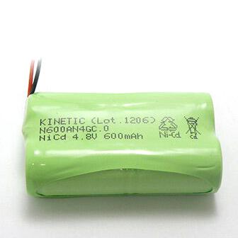 4KR-600AE 相当品 SANYO製相当品 ※組電池製作バッテリー 三菱化学 MCP-T360 等用 4.8V600mAh【4月おすすめ】