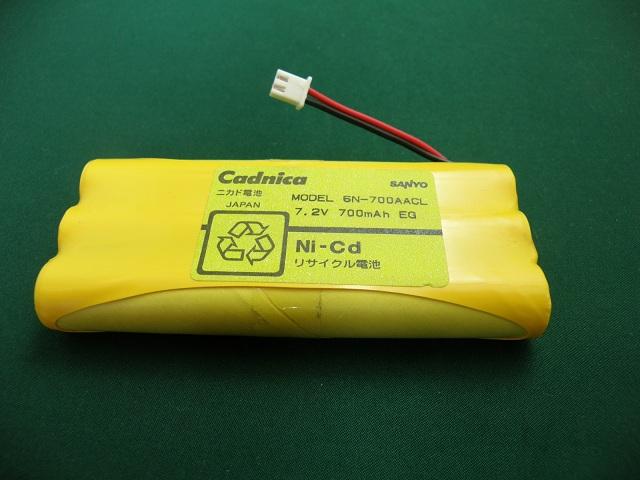 6N-700AACL 相当品 SANYO製相当品 ※組電池製作バッテリー ルミテスター キッコーマン C-100 等用 7.2V700mAh リード線のみ【電池屋の日対象】