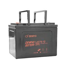 JC75-12 電菱 密閉型鉛蓄電池 12V75Ah(10時間率) <JCシリーズ>【T5端子(位置:P4)】 DENRYO BATTERY【キャンセル返品不可】