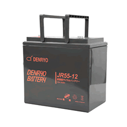 JR55-12 電菱 密閉型鉛蓄電池 12V55Ah(20時間率) <JRシリーズ>【T5端子(位置:P4)】 DENRYO BATTERY【キャンセル返品不可】