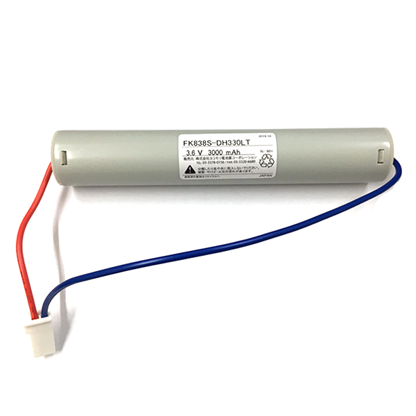 FK646相当品(同等品) ※電池屋製 <FK838相当品(同等品)> 3.6V2500mAh(3000mAh電池使用)|誘導灯・非常灯電池 | バッテリー | 蓄電池 | 交換電池<年度シール付き>
