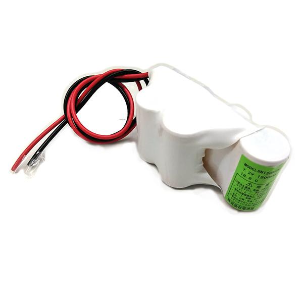 MODEL 6N-1200SCK 相当品(同等品) SANYO製相当品 ※組電池製作バッテリー 特殊形状  7.2V1200mAh リード線のみ【受注品2~3週間】