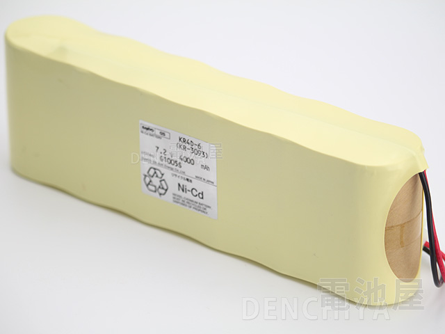 KR4D-6相当品 三洋ジーエスソフトエナジー製相当品 ※組電池製作バッテリー CO2測定機 光明理化学工業 UM-260L 等用 7.2V4000mAh リード線のみ