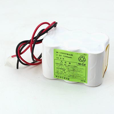 6N-1200SCK 相当品(同等品) SANYO製相当品 ※組電池製作バッテリー 輸液ポンプ テルモ TE112 等用 7.2V1200mAh W型リード線のみ【電池屋の日対象】
