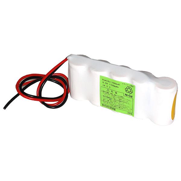 【4月おすすめ】6V1700mAh S型 5KR-1700AU相当品 SANYO製相当品 組電池製作バッテリー ニカド(ニッケルカドミウム Ni-Cd) 電池屋組電池 リード線のみ
