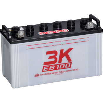 EB100-LR 3Kバッテリー製 12V100Ah L型端子 端子位置LR ディープサイクルEBバッテリー(GS EB100 LER相当品)