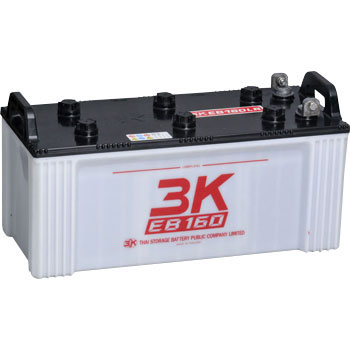 【エントリーでポイント5倍!】EB160-LL 3Kバッテリー製 12V160Ah L型端子 端子位置LL ディープサイクルEBバッテリー(GS EB160 LE相当品)