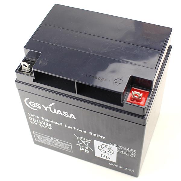 【受注品】PE12V24B1 GSユアサ製 小形制御弁式鉛蓄電池 PEシリーズ【キャンセル返品不可】