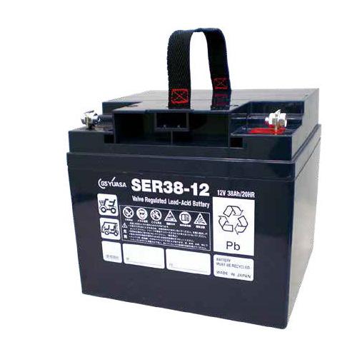 【受注品】SER38-12 GSユアサ 小型電動車用制御弁式鉛蓄電池 12V32Ah (2個セット)【代引不可】【キャンセル返品不可】【時間指定不可】