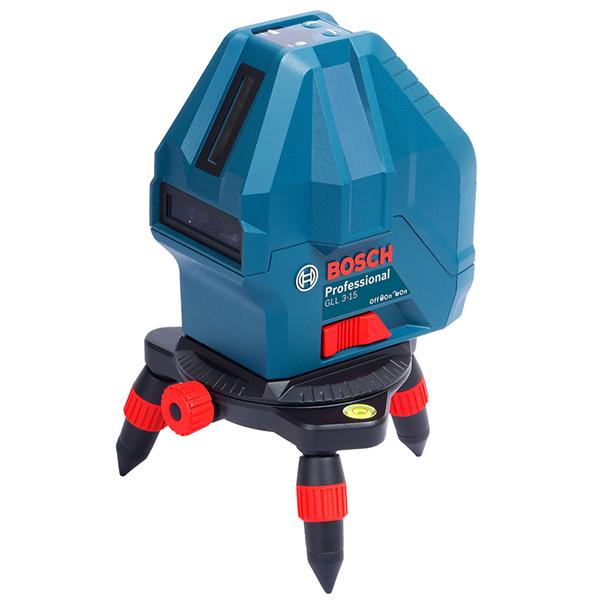 【店頭受取対応商品】BOSCHの電動工具 GLL 3-15X [水平、垂直2ライン、鉛直、地墨](キャリングバッグ付き) BOSCH(ボッシュ) レーザー墨出し器