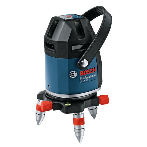 GLL 8-40ELR [水平4ライン、垂直4ライン、鉛直、地墨(フルライン)](キャリングケース付き(アルミ製)) BOSCH(ボッシュ) レーザー墨出し器