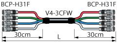 4VS10-3CFWH カナレ BNCケーブル(マルチ)