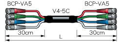 4VS20A-5C カナレ BNCケーブル(マルチ)