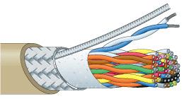 【エントリーでポイント5倍!】D202-12P-EM 500m カナレ 一括シールド多対データケーブル