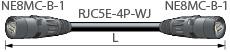 【エントリーでポイント5倍!】ETC100L-B カナレ 移動用LANケーブル