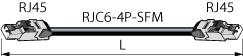 ETC6-50-T カナレ 移動用LANケーブル