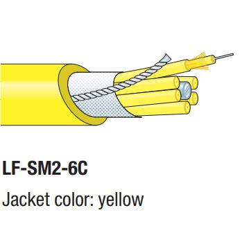 LF-SM2-6C 100m カナレ SMコード集合型光ファイバケーブル