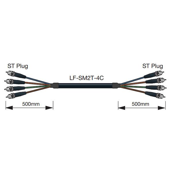 LF-SM2T-4C 100m カナレ 100m 高強度多心光ケーブル, ドリームプラザ:88f61550 --- sunward.msk.ru