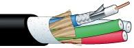 【エントリーでポイント5倍!】V5-5CFB-EM 50m カナレ 75Ω同軸マルチケーブル