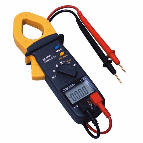 C-03 カスタム 直流・交流の電圧、抵抗、導通、ダイオードチェックのできるクランプメータ