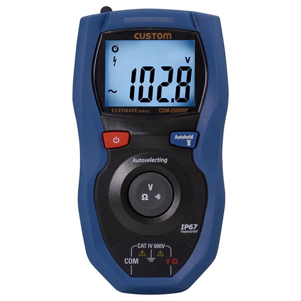 CDM-2500WP カスタム 頻繁に使用する機能に絞った防塵防水デジタルマルチメータ