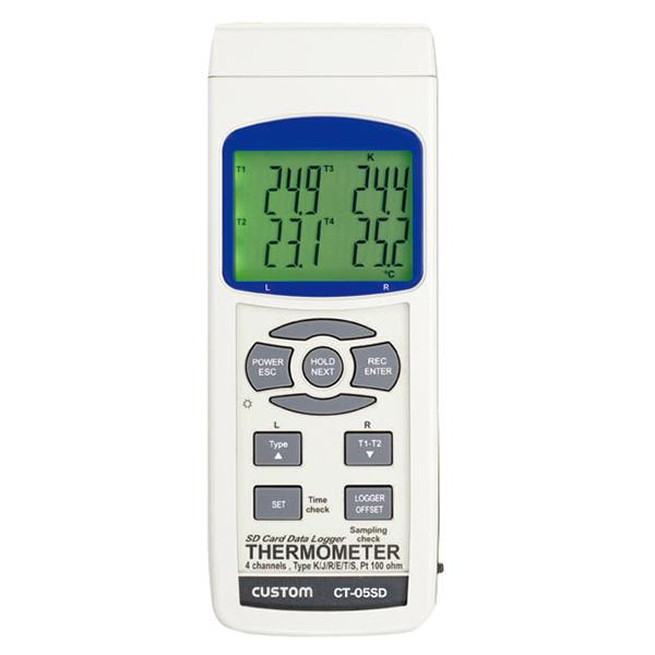 CT-05SD カスタム 温度測定/SDカードへのデータ記録(データログ機能)が可能 データロガー4チャンネル温度計