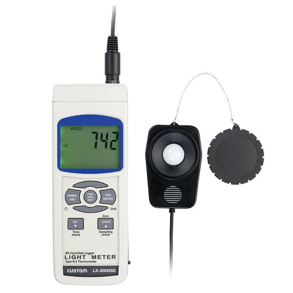 LX-2000SD カスタム SDカードへのデータ記録も可能な照度計
