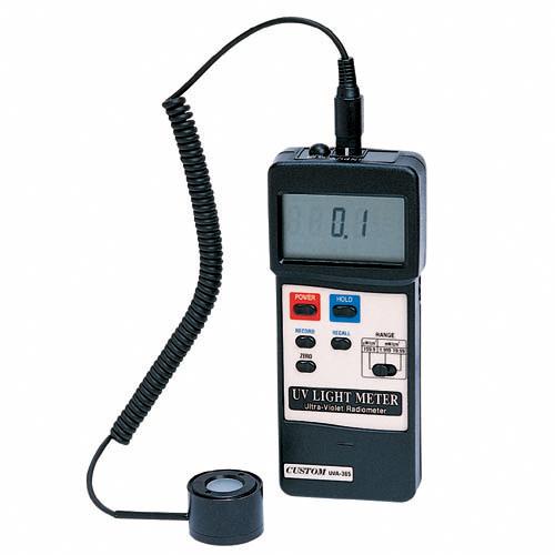 UVA-365 カスタム 波長感度:300~400nm、範囲最大19.99mW/cm2まで測定可能なデジタル紫外線強度計