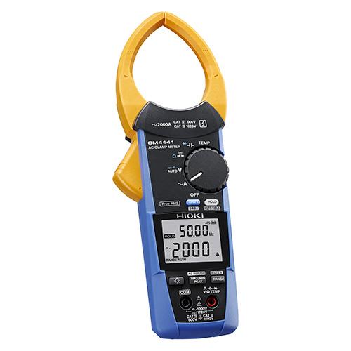 【4月おすすめ】CM4141 日置電機 圧倒的な挟みやすさ, 狭いケーブル間へ入れやすい電流センサ ACクランプメータ