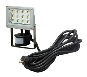 【エントリーでポイント5倍!】PDS-0112C ジェフコム(デンサン) LED投光器(12Wセンサー型)