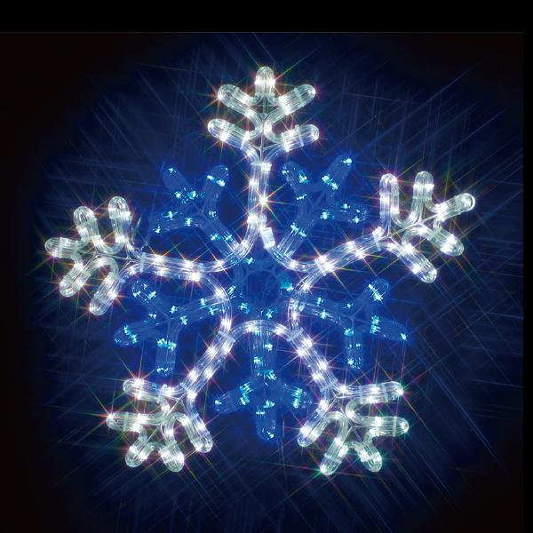 SJ-C103WB-JT ジェフコム(デンサン) LEDジョイントモチーフ(SJシリーズ) 雪の結晶 白x青