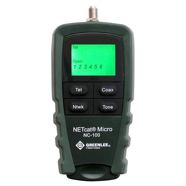 NC100 グッドマン 簡単操作の小型LAN・同軸・電話テスター LANテスター