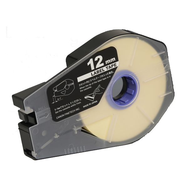 3476A025 Canon(キヤノン)製 ラベルテープカセット12mm×30m【白】(3個入/箱)<ケーブルIDプリンタ 消耗品>